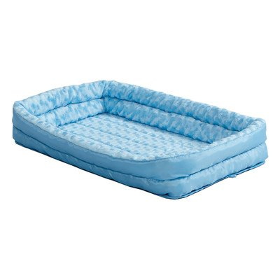 """MidWest Homes for Pets Double Bolster Bed, 22"""", Blue Image"""