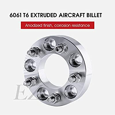 Billet Wheel Adapter 5x135 to 5x5.5 Thickness 1 Inch - Pair: Automotive