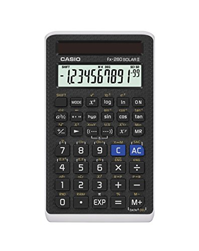 "Casio Scientific Calculator Black, 3"" W x 5"" H , 2.25 (FX-260 SOLARII-S-IH)"