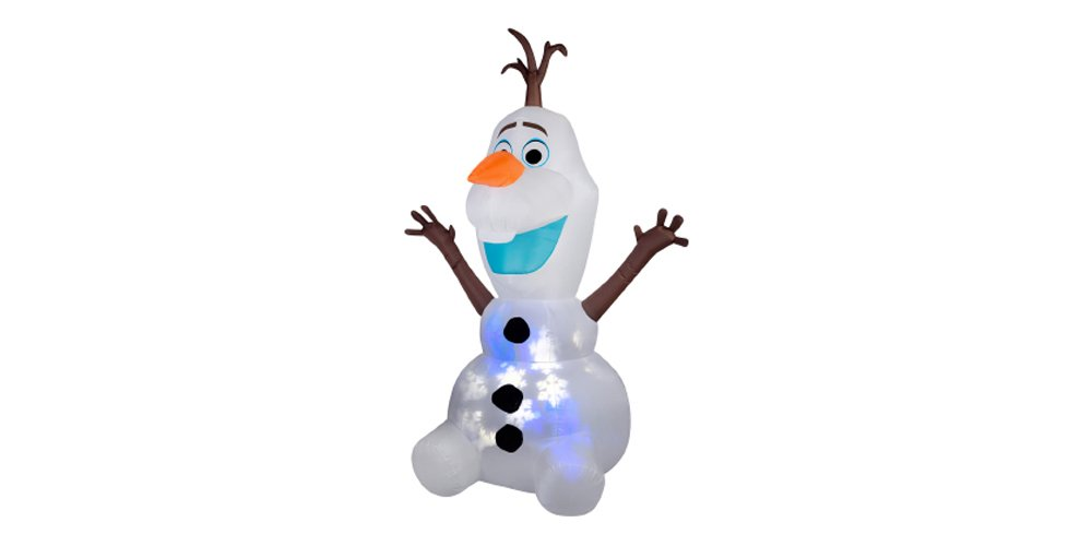 Disney Projection Airblown Snowflurry Olaf - Giant LED Lighted Christmas Inflatable Outdoor Decoration for Yard, Lawn, & Garden - Home Holiday Character Decor - 8 Feet Tall by Arett Sales (Image #1)