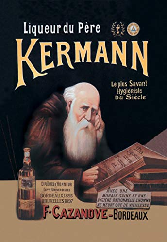 Liqueur du Père Kermann Bordeaux Wall Decal, 48