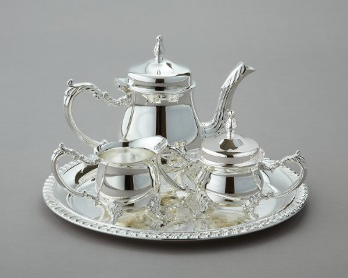 Elegance Silver Mini Coffee 4 pc Set