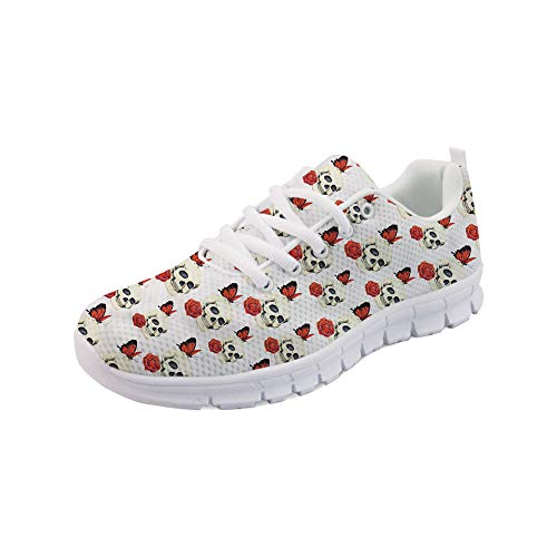 e79eb8c4215587 FOR U DESIGNS Strength Woman Shoes Training Wide Width Autumn Winter Flats  for Gym with Rose Skull Size 43