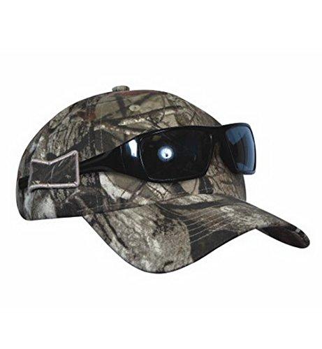 KC Caps Men's Camo Hunting Hat with Opti-Grab Sunglasses Hol