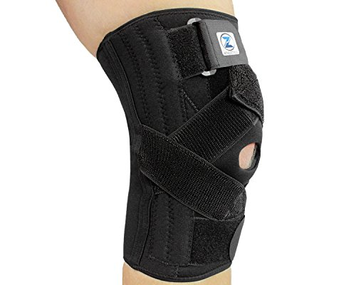 Zenith Knee Brace ‒ Adjustable Support For Meniscus Tear, ACL Lateral & Medial Ligament Sprains! Sleeve for Running, CrossFit, Basketball and other Sports