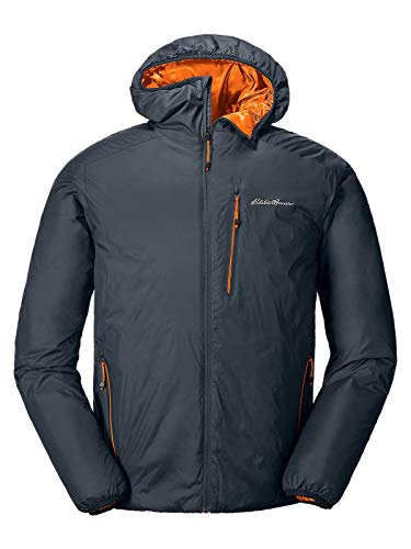 Eddie Bauer Men's EverTherm Down Hooded Jacket, Storm Regular S