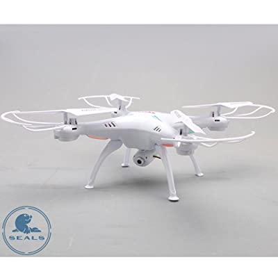 SYMA X5SC RC Drone with HD Camera x5c Upgrade Version,Headless Mode One Key Return ---White by SYMA