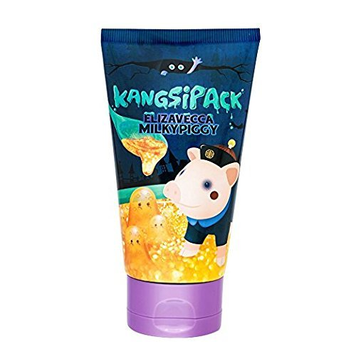 Elizavecca Milky Piggy Kangsi Pack Wrinkle care Deep Cleansing 24K Gold Mask. Anti Aging, Pore Minimizing, Blackhead removing, Moisturizing and Brightening Facial Treatment
