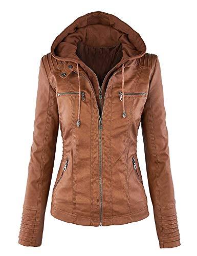 Qingxian Femme Veste Manteau cuir Faux en TgPfTxq