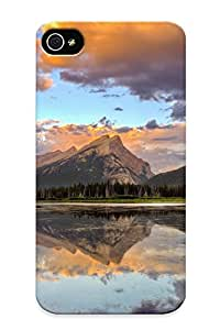 New Mountain Reflection In The Lake Tpu Case Cover, Anti-scratch Freshmilk Phone Case For Iphone 4/4s