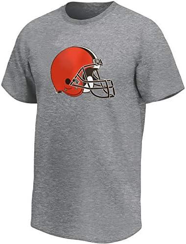 Cleveland Browns NFL Fan TShirt Iconic Logo grijsS