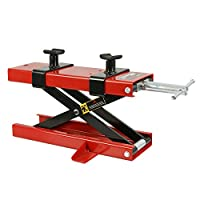 Smartxchoices 1100 LB Motorcycle Center Scissor Lift Jack with Hoist Stand Bikes ATVs (#01)