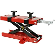 Smartxchoices 1100 LB Heavy Duty Motorcycle Center Scissor Lift Jack with Hoist Stand Bikes ATVs (#01)