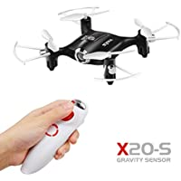 Dazhong SYMA X20-S Drone for Beginners, 2.4g 6-Axis Mini Pocket Drone with Altitude Hold Mode Gravity Sensor One Key Take Off/Landing, One Hand Remote Control Quadcopter