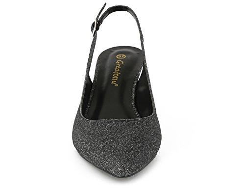 Chaussures EU B 41 avec et Le pour des Femmes Dos à Noir Talon sur Boucles Greatonu Classics des 36 Espigones Sangles Les qHgCdqw