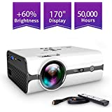 ViviMage C460 Mini Movie Projector, 2500 Lumens 1080p Supported, Portable Home Cinema for Indoor/Outdoor Use Compatible with iPhone/PC/DVD/Fire TV Stick/Video Games