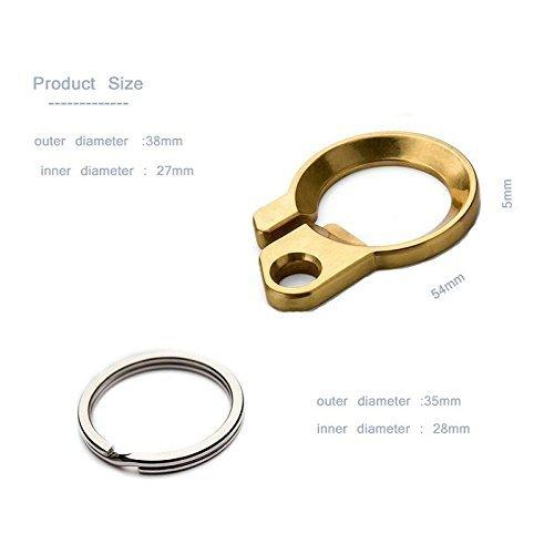 Sleek Brass Bottle Opener Key Chains Creative EDC Belt Loop keychains with Stainless Steel ()