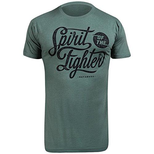 Hayabusa Mens Classic Spirit of The Fighter T-Shirt, Green, X-Large (Hayabusa T Shirt)