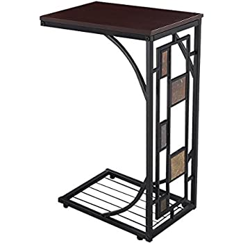 Tangkula Coffee Tray Side Sofa Table Ottoman Couch Room Console Stand End  TV Lap Snack