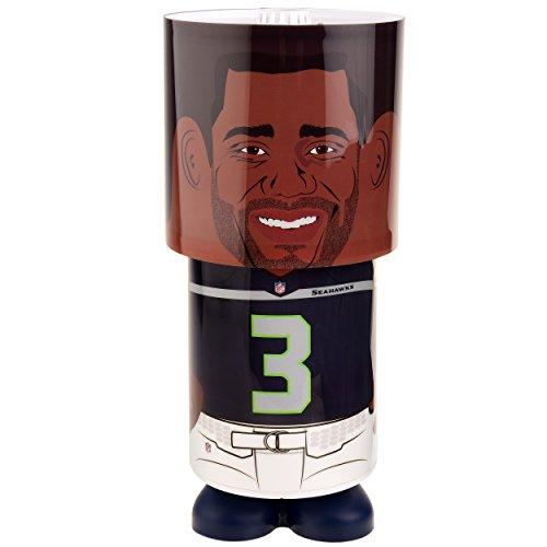 NFL Seattle Seahawks Russell Wilson Unisex Wilson R. #3 Desk Lamp, One Size