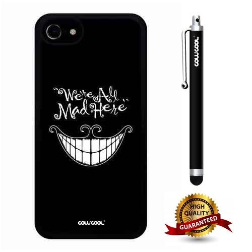 iphone 8 Case, iphone 7 Case, Smile Case, Cowcool Ultra Thin Soft Silicone Case for Apple iphone 7 8 - Black We Are All Mad -