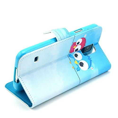 PowerQ [ para IPhone6 IPhone 6 6G - 14 ] PU Funda Serie bolsa Modelo colorido con bonito hermoso patrón de impresión Impresión Dibujo monedero de la cartera de la cubierta móvil del bolso del teléfono 25