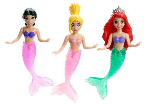 Disney Princess Ariel and Her Sisters Playset, 3-Pack - Swim Doll