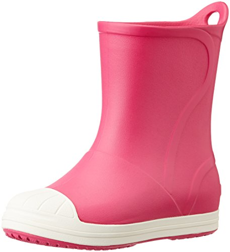 crocs Bump It Rain Boot (Toddler/Little Kid), Candy Pink/Oyster, 9 M US Toddler (Toddler Croc Rainboots)