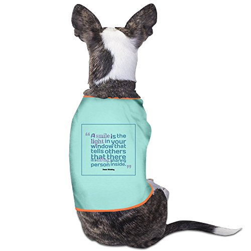 [Personalize Puppy Shirt A Smile Is The Light Quotes By Denis Waitley For Dogs Cats 100% Polyester] (Caitlyn Costumes)