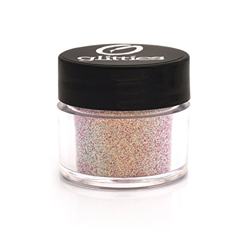 GLITTIES COSMETIC Extra Fine Mixed Glitter Powder-Make Up, Body, Face, Hair, Lips & Nails (Pretty in Pink)