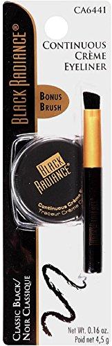 Black Radiance Continuous Creme Eyeliner, Classic Black 0.16 oz (Pack of 3)