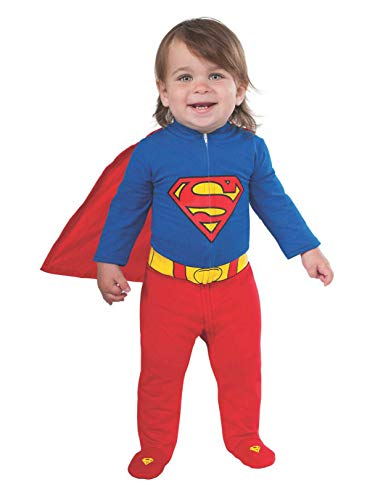 Funny One Year Old Halloween Costumes (Rubie's Baby's DC Comics Superhero Style Baby Superman Costume, Multi, 6-12)