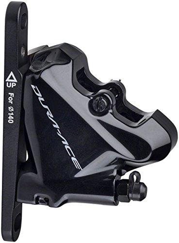 R9170 Front Hydraulic Disc Brake Caliper, Flat Mount w/Bracket for 140/160mm Rotor, Resin Pad ()
