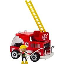 Hape Classic Fire Truck Toddler Wooden Play Set