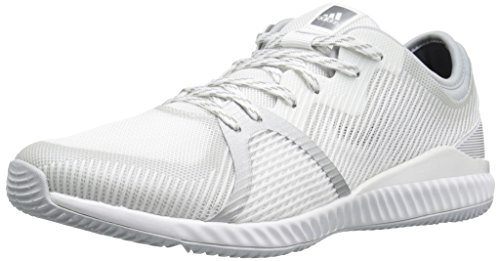 adidas Women's Crazytrain Bounce Cross-Trainer Shoes, White/Metallic Silver/Clear Grey, ((9.5 M US) ()