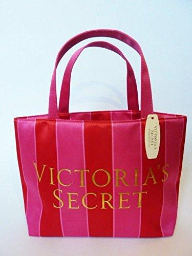 - Victoria's Secret 2013 Signature Stripe Design, Satin Mini Tote Bag