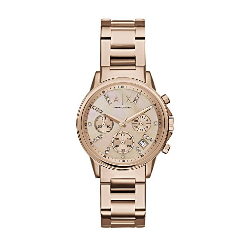 (Armani Exchange Women's AX4326  Rose Gold  Watch)
