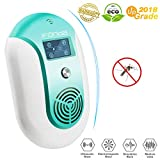 Ultrasonic Pest Repeller, Electronic Mosquito Repellent Variable Frequency Effective Plug in Bug Pest Repellent Smart Indoor Pest Control for Mice Wasp Squirrel Roach Spider Ant Rodent (blue)