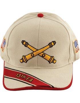 13 Field Artillery Branch of Service Cap (Stone) (Field Artillery Branch)
