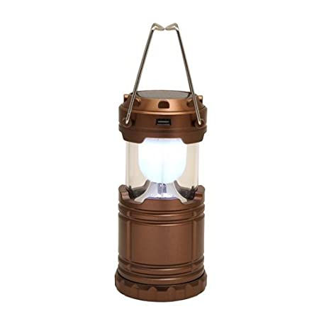 XHAIDEN® Solar Rechargeable LED Lantern. Collapsible Retro Camp Light. with Battery/Plug Charging Options. 6W Ultra Bright Ideal for Hiking, Emergencies, Power Outages & Trekking.