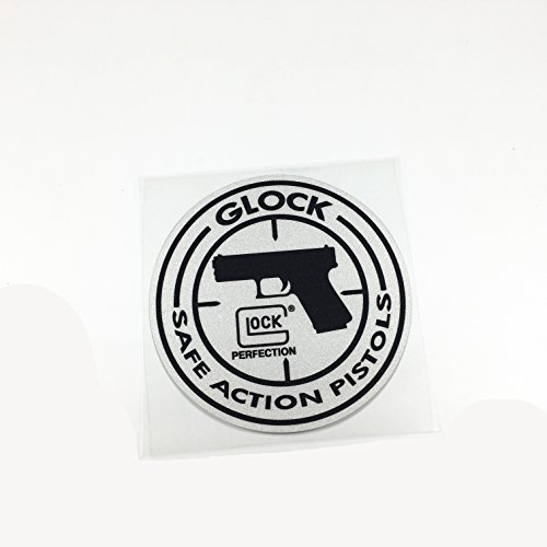 Car Stickers Reflective Motorcycle Helmet Decal Bumpers for Glock G18 LOCK SAFE ACTION PISTOLS 9x9cm (Glock Pistol Stickers)