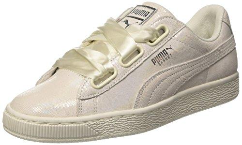 Puma Womens Basket Cuore Ns Wns, Bianco Beige