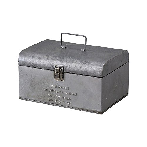 Time Concept Geshmack Metal Iron Antique Style Storage - Small Tool Box - European Retro Inspired, Tinplate Home Décor