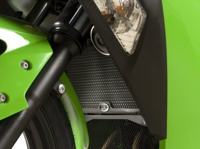 Ninja Radiator (R&G Racing Radiator Guard Grill for Kawasaki Ninja 250R / 300 2008-2014 RAD0139BK)