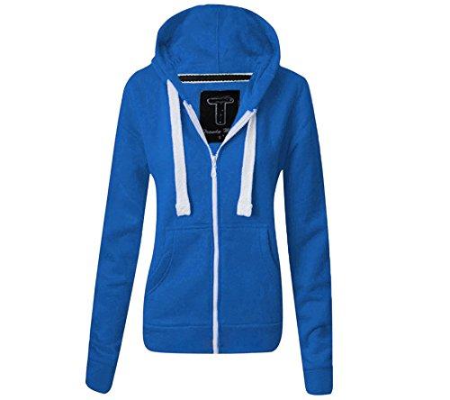 Femmes dames à capuche couleur Bleu Royal Taille EU 38