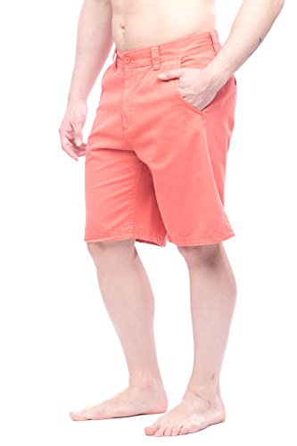 St. John's Bay Men's flat front shorts with pockets Coral 40 from St. John's Bay