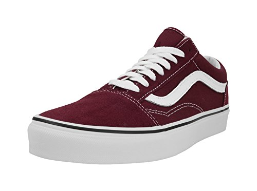 07c0d3dd7b Galleon - Vans Unisex Old Skool Burgundy True White Skate Shoe 6.5 Men US 8  Women US