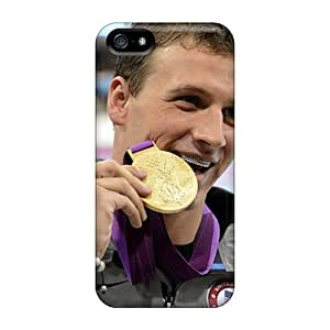 Defender Case With Nice Appearance (ryan Lochte With Gold Medal Wallpaper) For Iphone 5/5s
