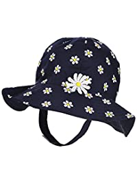 "Little Me Baby Girls' ""Shaded Daisies"" Bucket Hat - navy, 12 - 24 months"
