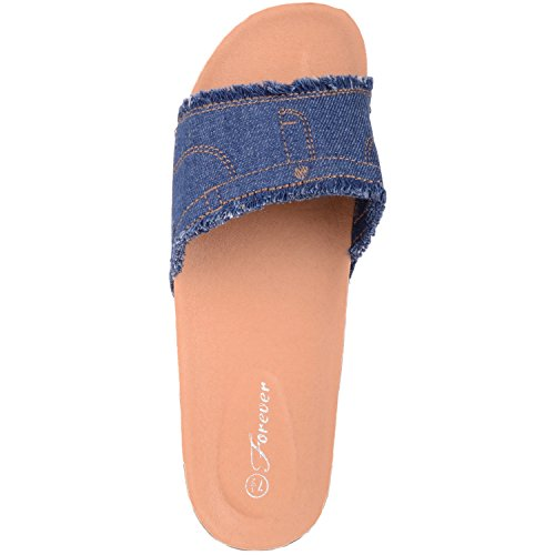 Womens Denim Muli Sandali Blu Holiday Absolute Scarpe Footwear Look Summer gaxSSp